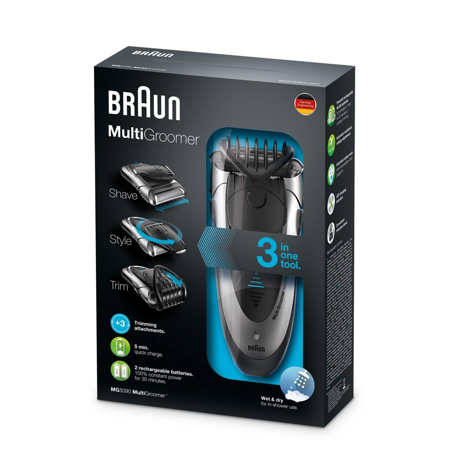 Braun multi groomer MG5090