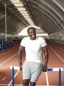 When it comes to the 100m, Linford is undoubtedly Europe's greatest ever star to grace the track. At the 1992 Barcelona Olympics, while Freddie Mercury showed he had the pipes on him to compete with Montserrat Caballé, Linford showed he was in a class all of his own as he won gold in the 100m. In an International career spanning seventeen years, Linford competed over 60 times for his country and won more major championship medals (23 if you're wondering) than any other British sprinter. Linford is the only British athlete to have won Gold medals in the 100 metres at all four major competitions and was the first European to have run sub ten seconds. His fastest time 9.87 seconds, recorded when he won the 1993 World Championship in Stuttgart, is the European record. Super quick, super inspirational, and super keen to provide the motivation that you might need to achieve your goals.