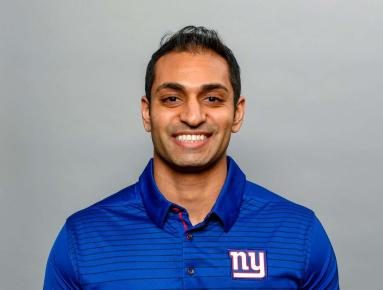 Pratik Patel is in his fourth season as the Giants' director of performance nutrition/assistant strength and conditioning coach. Prior to joining the Giants, Pratrik worked more than seven years at the collegiate level at Kansas State, Michigan State and the University of Oregon, where he had the opportunity to build, grow, and integrate sports nutrition departments from the ground up for successful football programs. He has worked with 33 NFL draft choices, including seven first-round selections. If that wasn't enough, Pratik was also part of the 2013 Big Ten Conference, the 2014 Rose Bowl champion Spartans and the 2014 Pac-12 Conference and 2015 Rose Bowl champion Ducks.