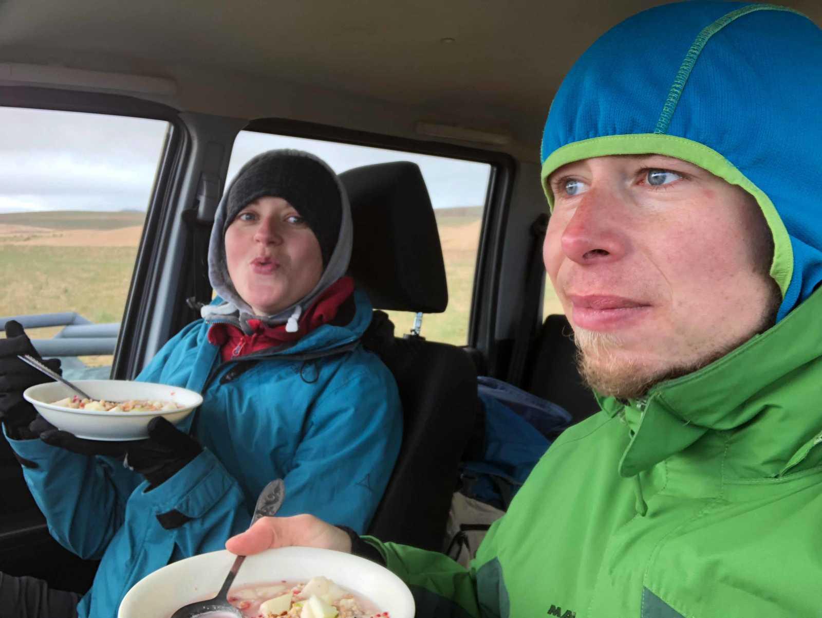 Dinner time in the Gobi Desert