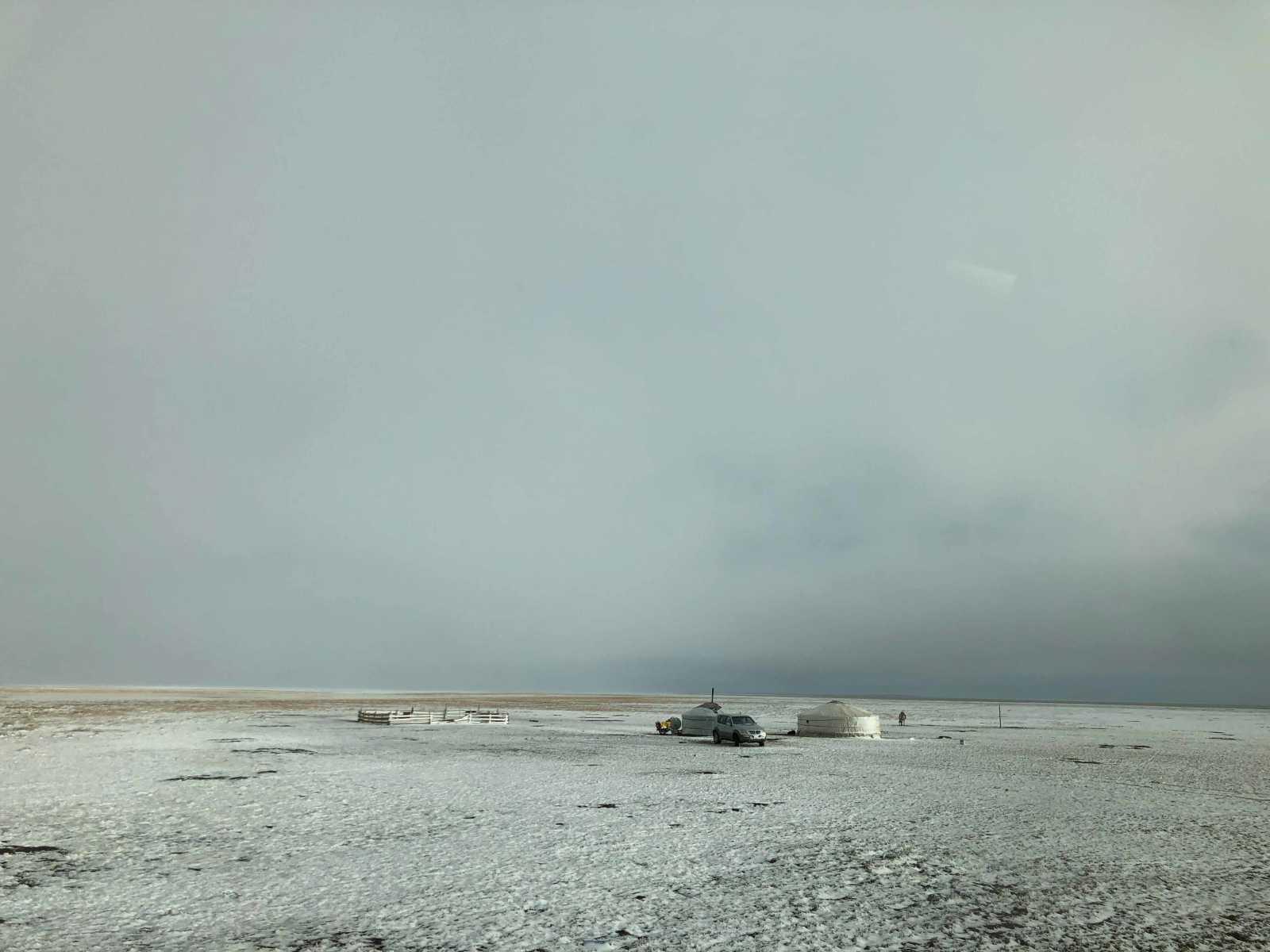 Freezing temperatures in Gobi