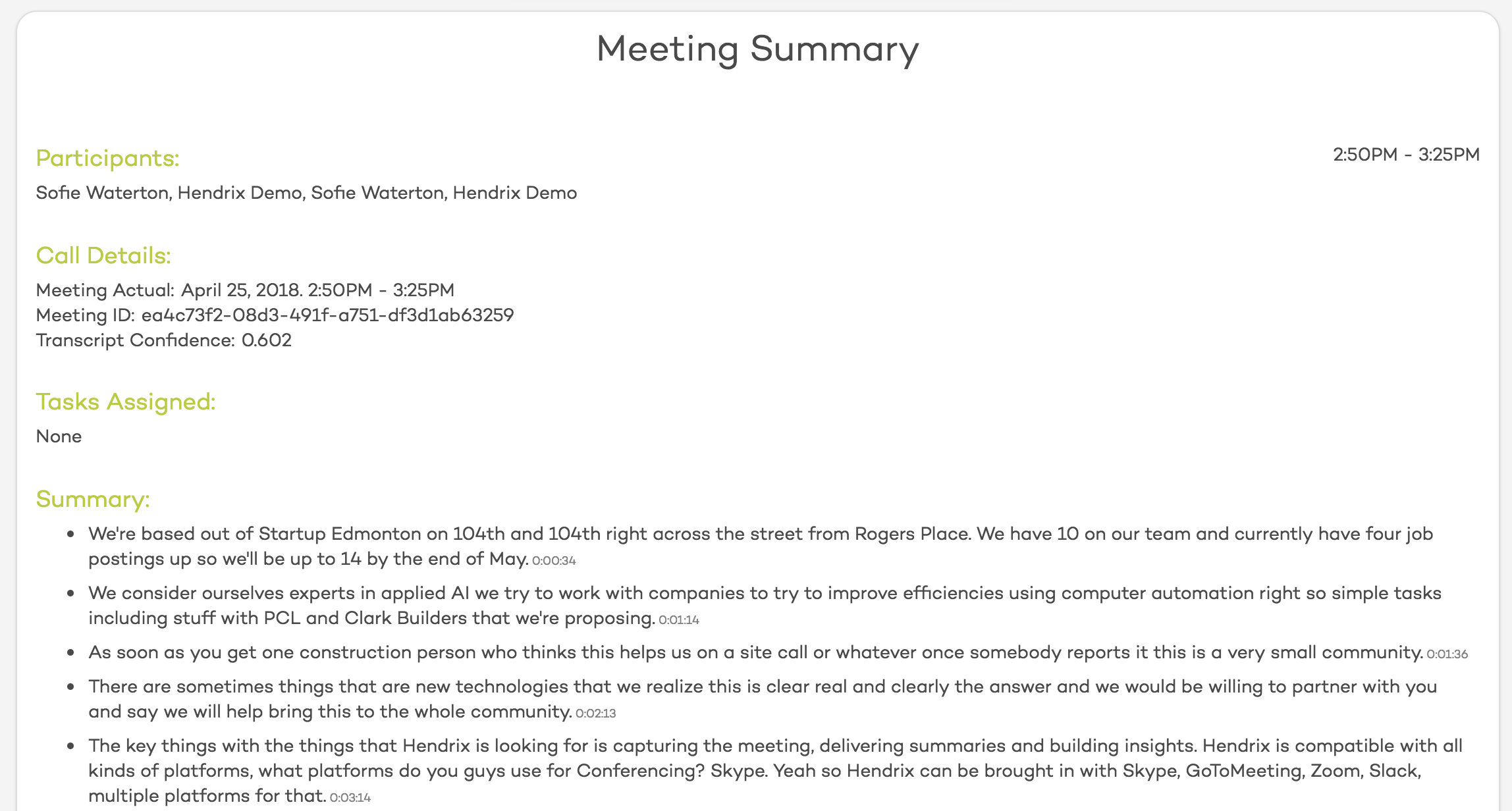Meeting Summary 4