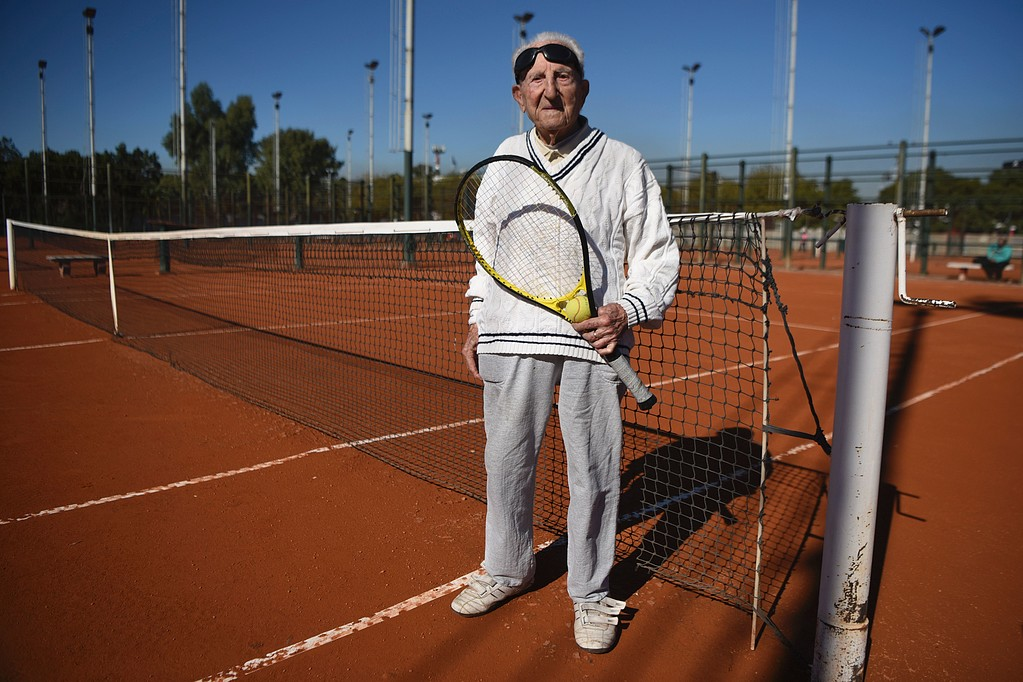 ARGENTINA-TENNIS-ARMENIA-ELDERLY-100-YEAR-OLD