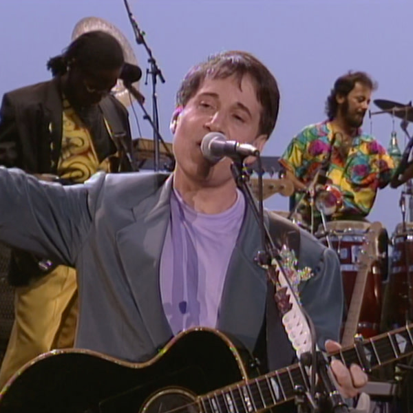 """Paul Simon during the performance of """"Born at the Right Time."""""""