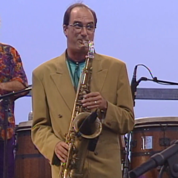 """Michael Brecker during the performance of """"She Moves On."""""""