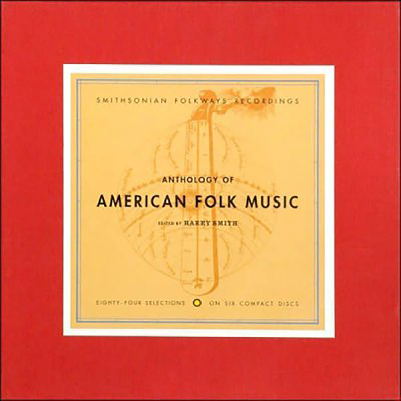 "Cover art for ""Anthology of American Folk Music"" album, originally released in 1952. 