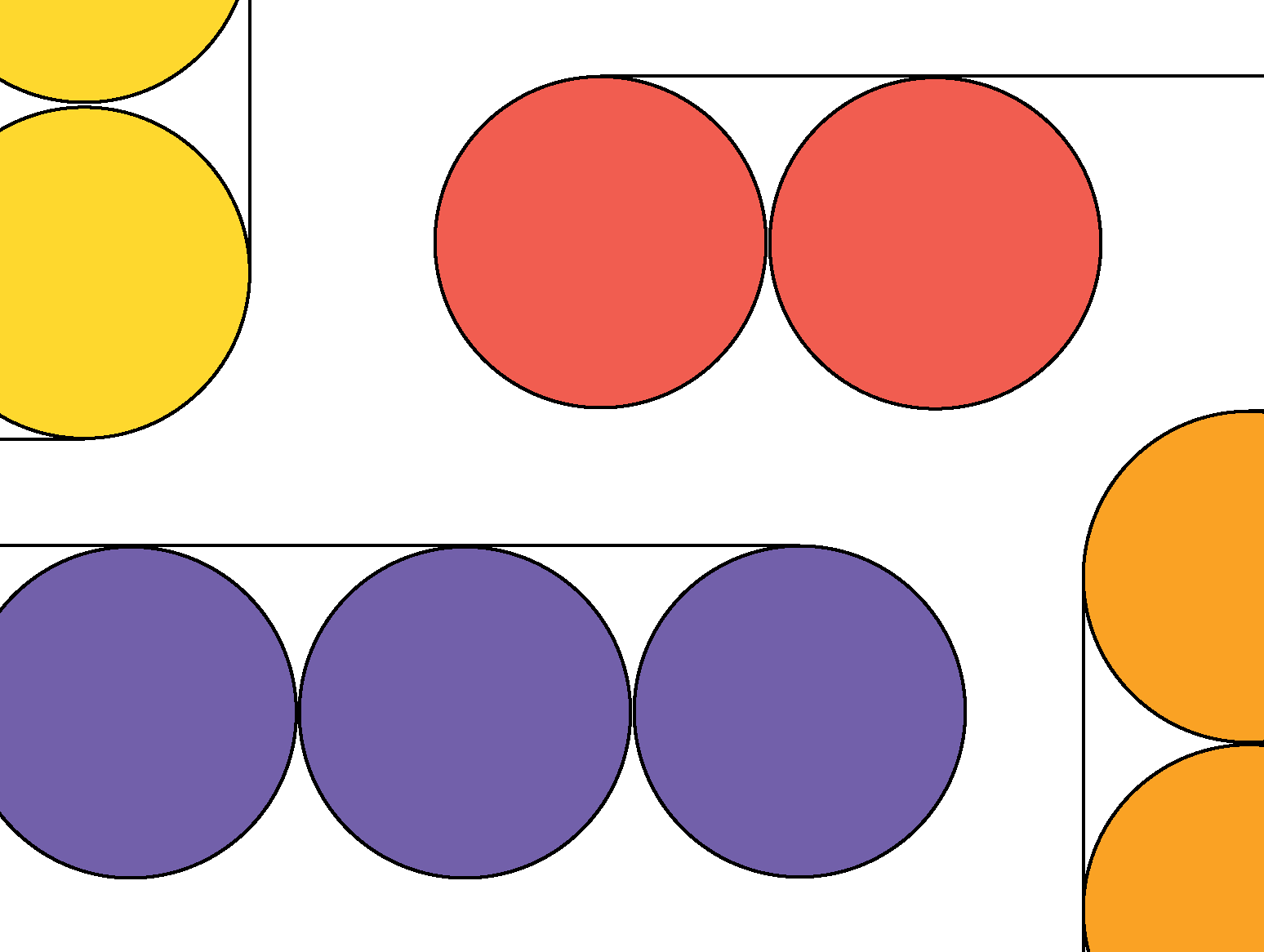 Abstract image of yellow, red, purple, and orange circles connected with thin lines.