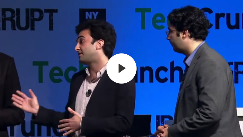 Enigma co-founders Hicham Oudghiri and Marc DaCosta showcase the first iteration of Enigma on the way to winning TechCrunch Disrupt NY 2013.