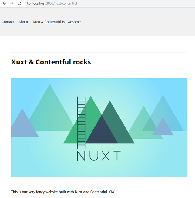 Build a website using Nuxt and Contentful : a step by step
