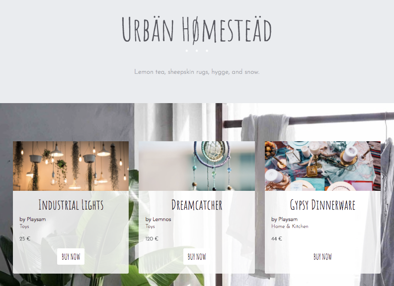 Our project template - Urban Homestead