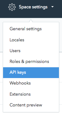 Space settings and API keys