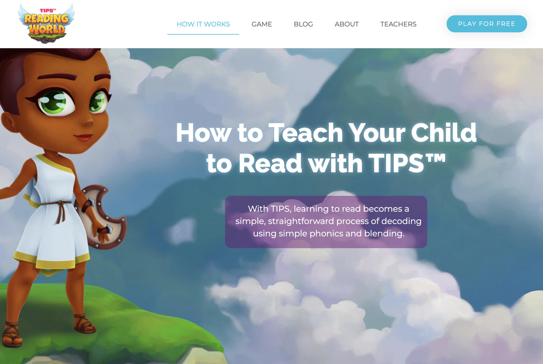 Screenshow of TIPS reading world