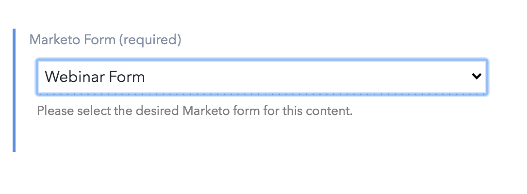 Using Marketo forms
