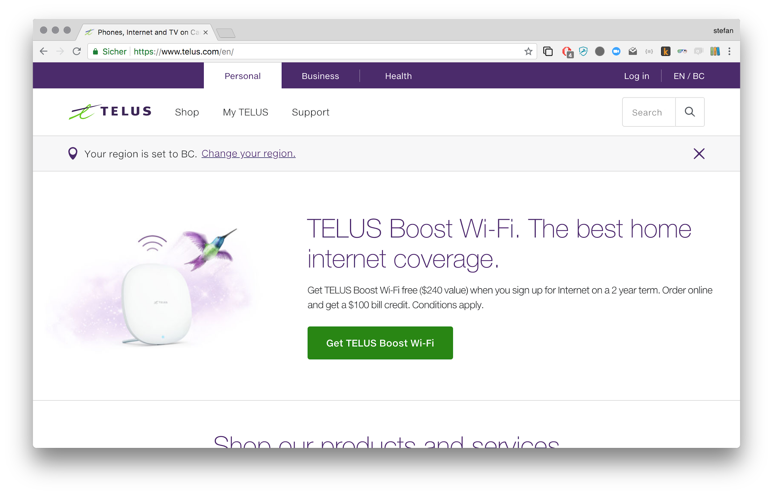 Content from Telus is powered by Contentful
