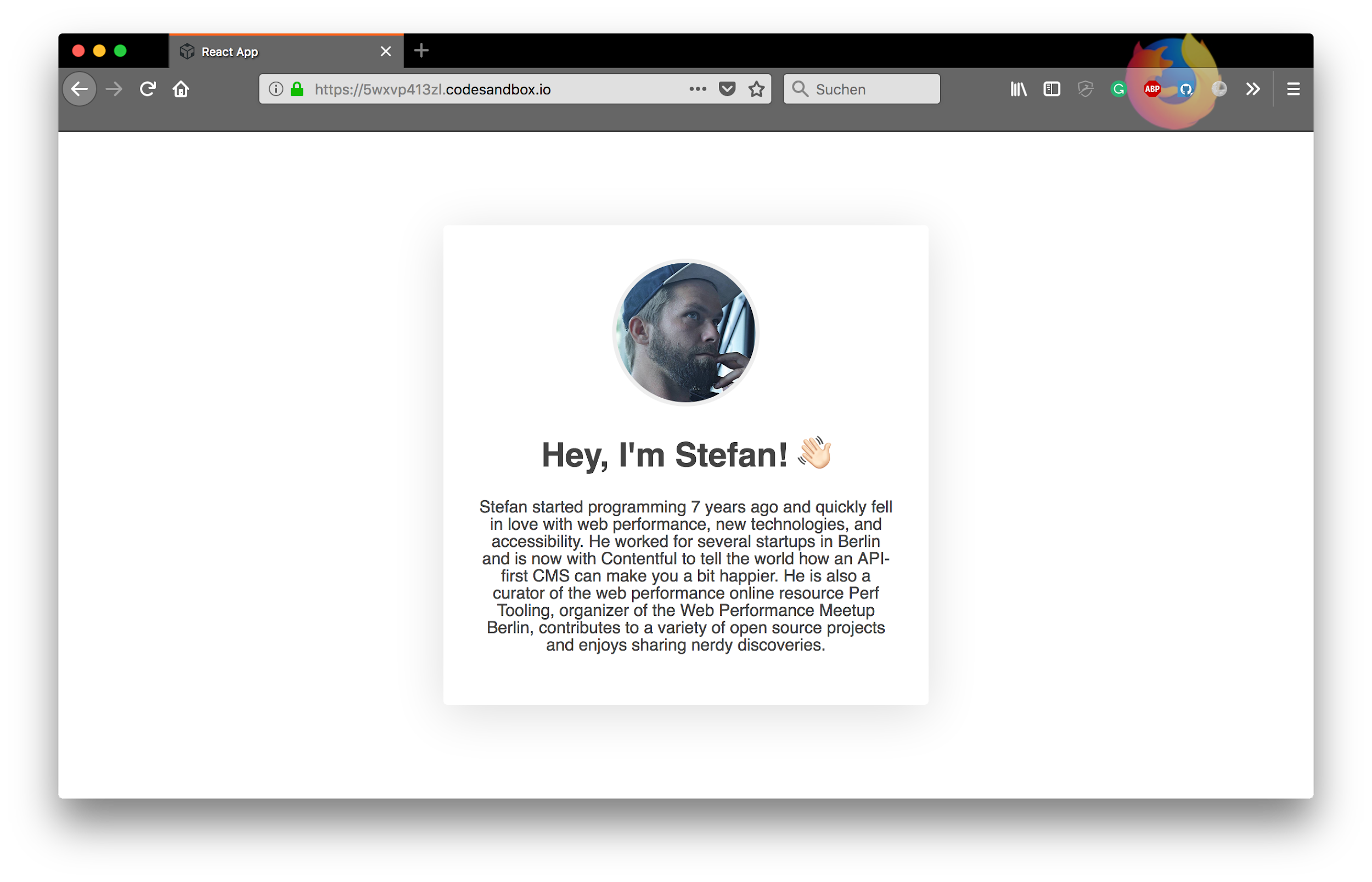 Example one-pager site