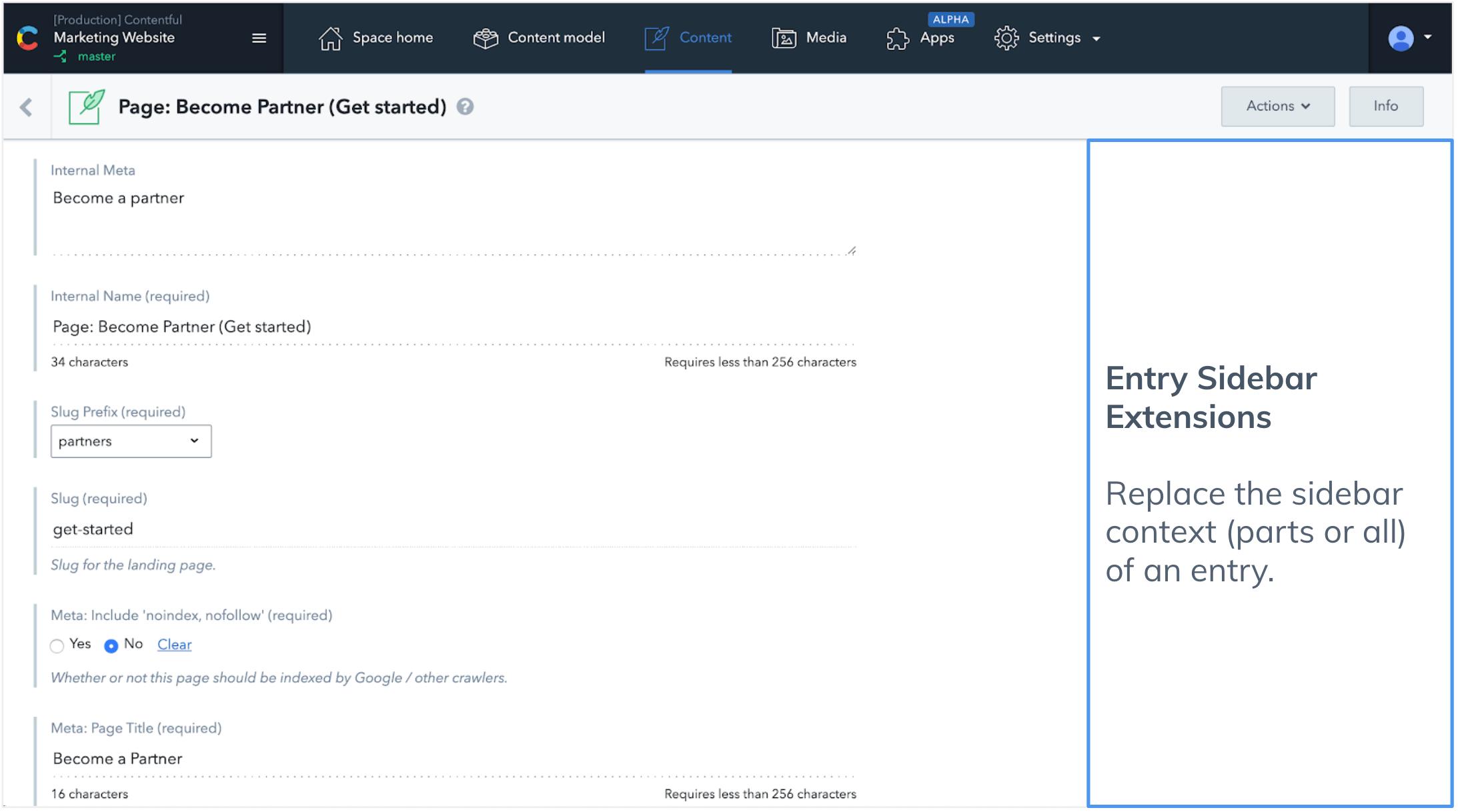UI EXtensions types Sidebar