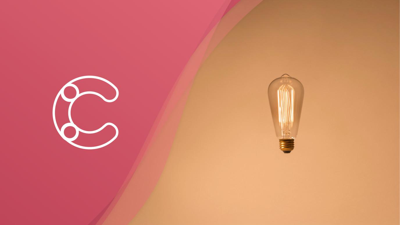 Blog header with lightbulb