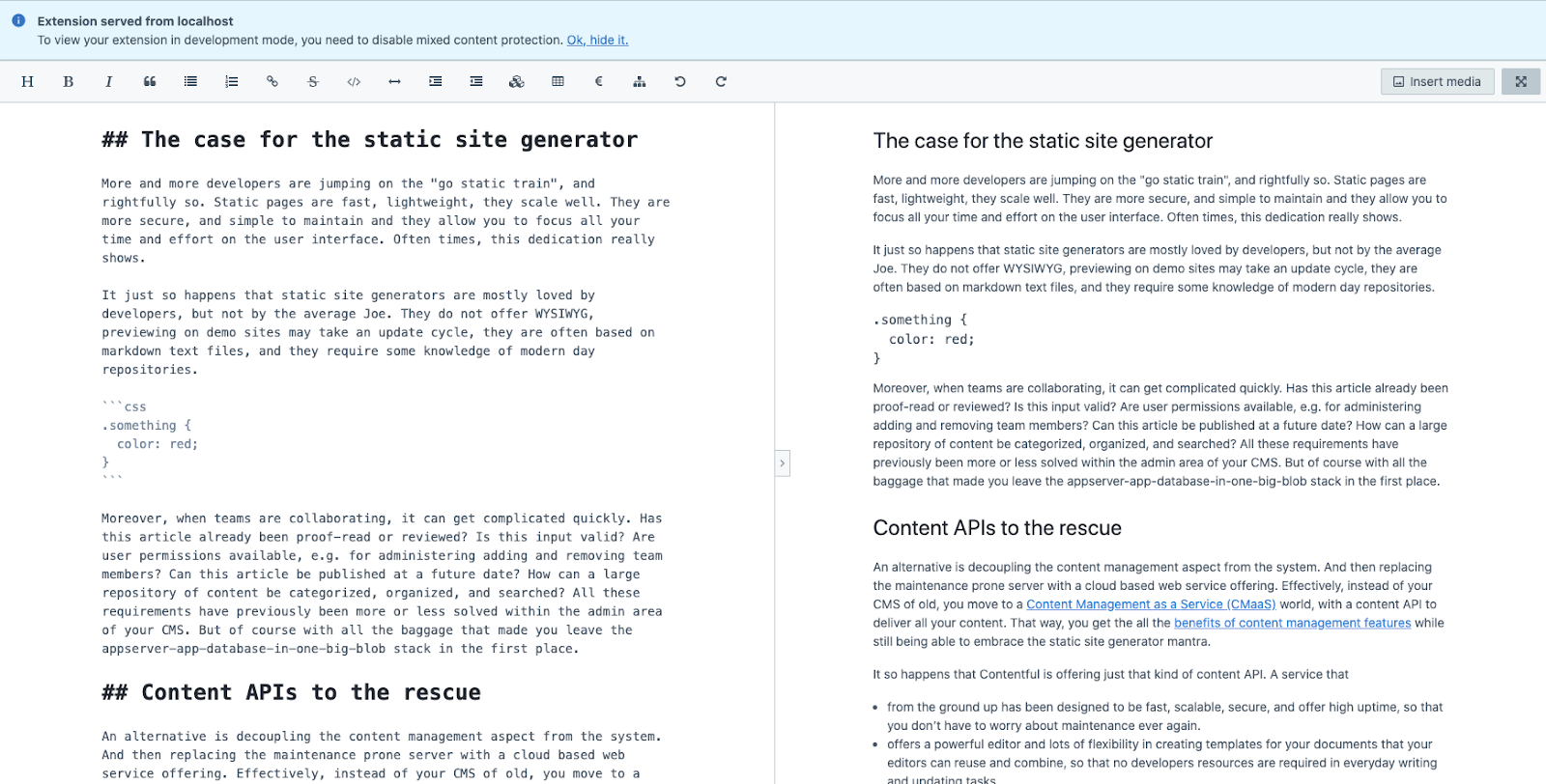 With these adjustments you can now open your Markdown editor in full screen!