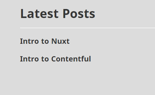 How to create a blog using Nuxt js and Contentful | Contentful