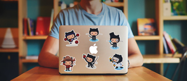 Laptop stickers hero