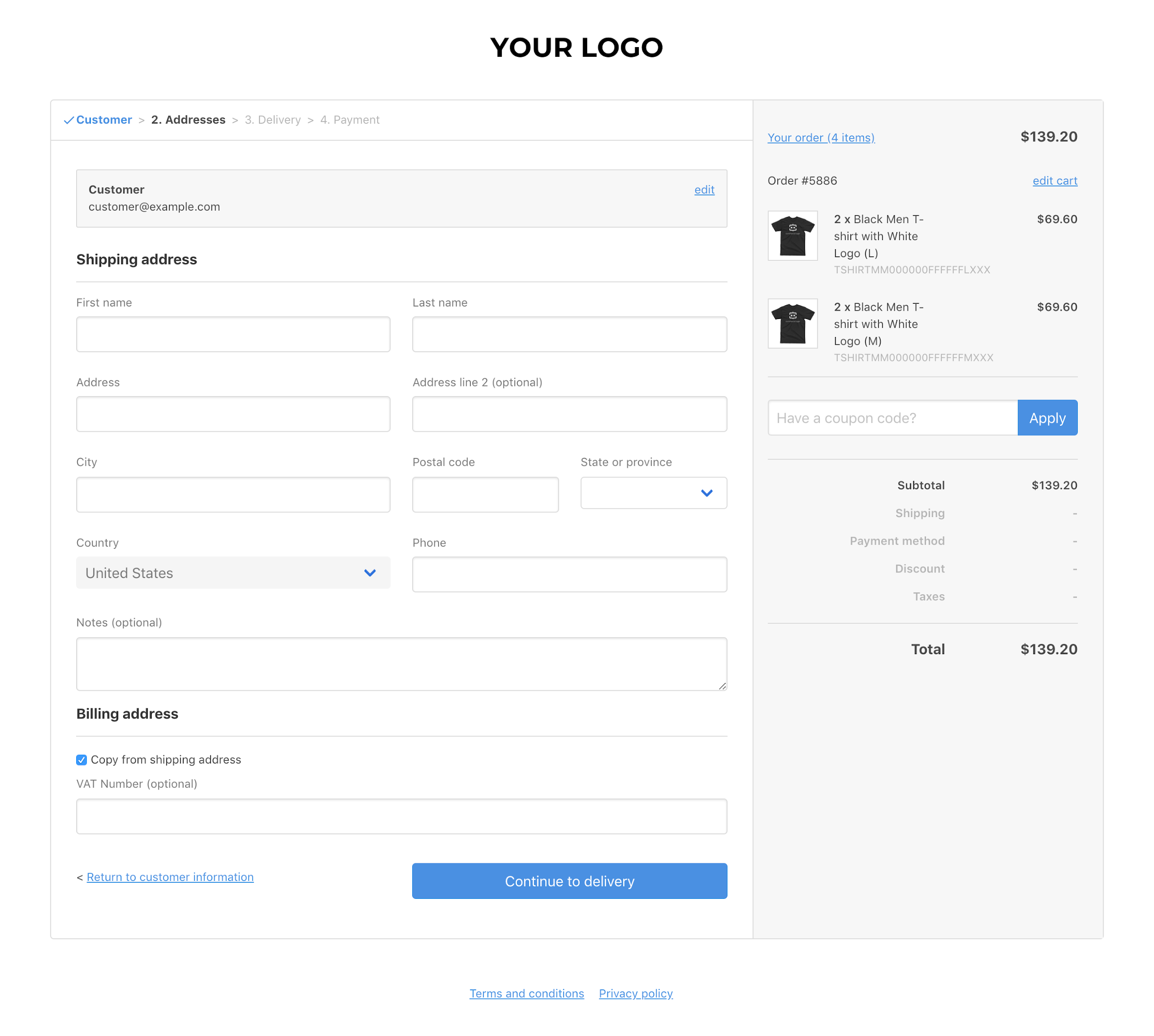 Commerce Layer hosted checkout page