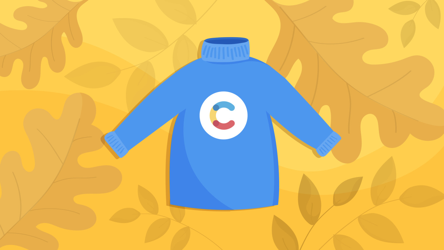 The Autumn of livestreams with Contentful - image depicting a cozy sweater with the Contentful logo.