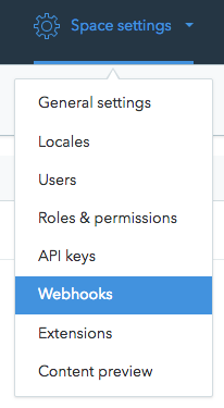 Navigating to webhooks