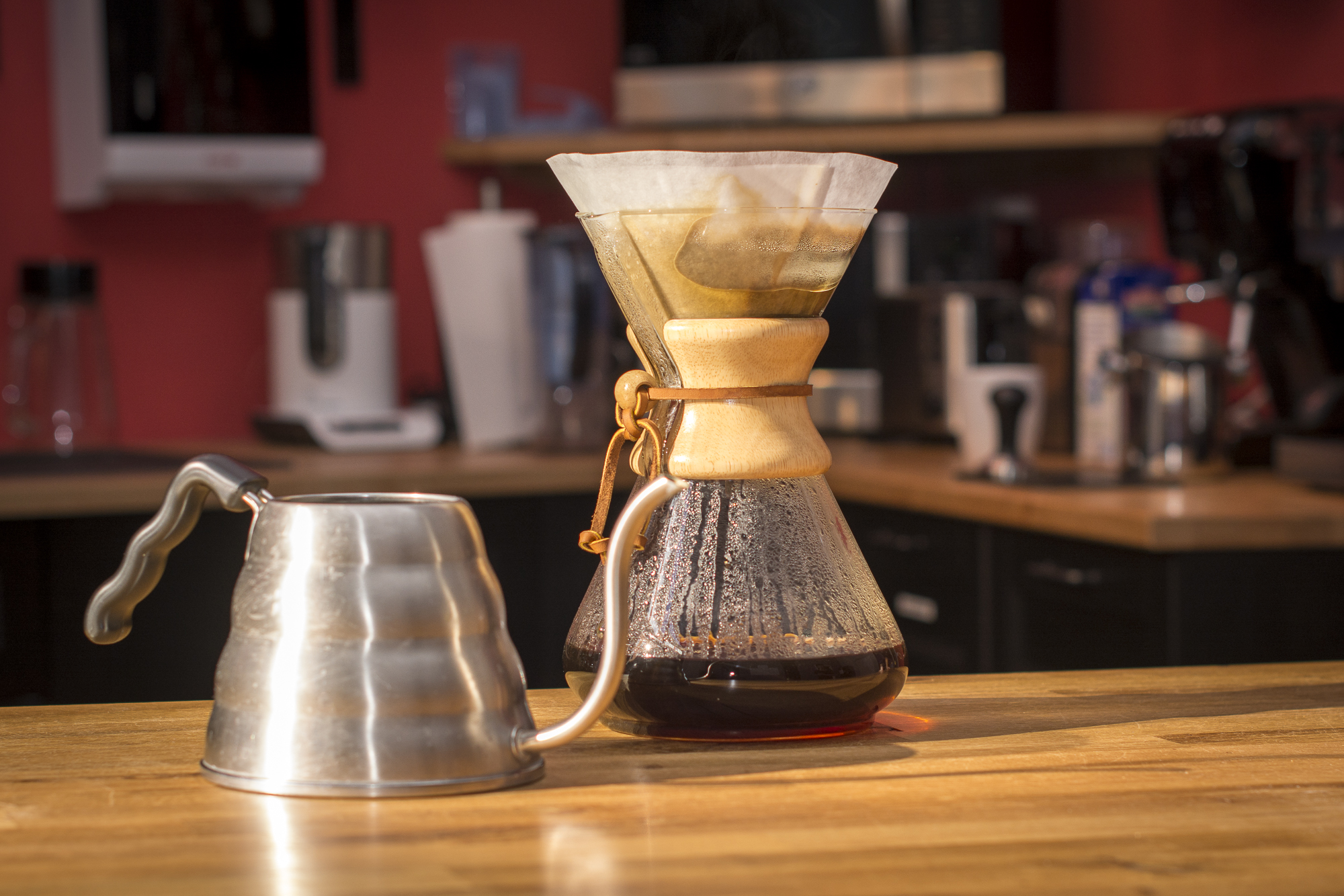 Chemex container with pourer