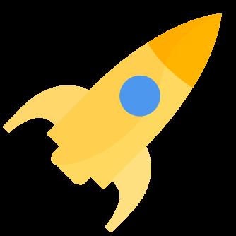 Blog icon yellow rocket small
