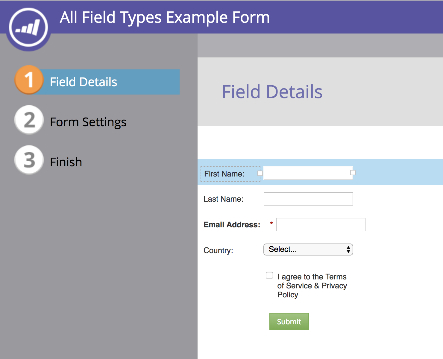 Setting up a form in Marketo