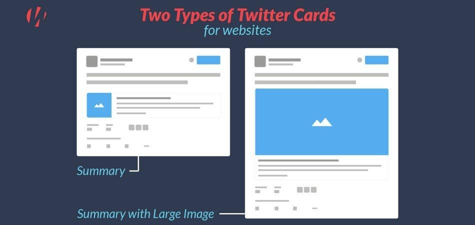 Two types of Twitter cards