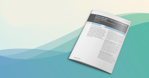 Forrester wave web content management systems analyst report cover
