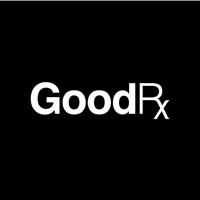 Goodrx logo black background