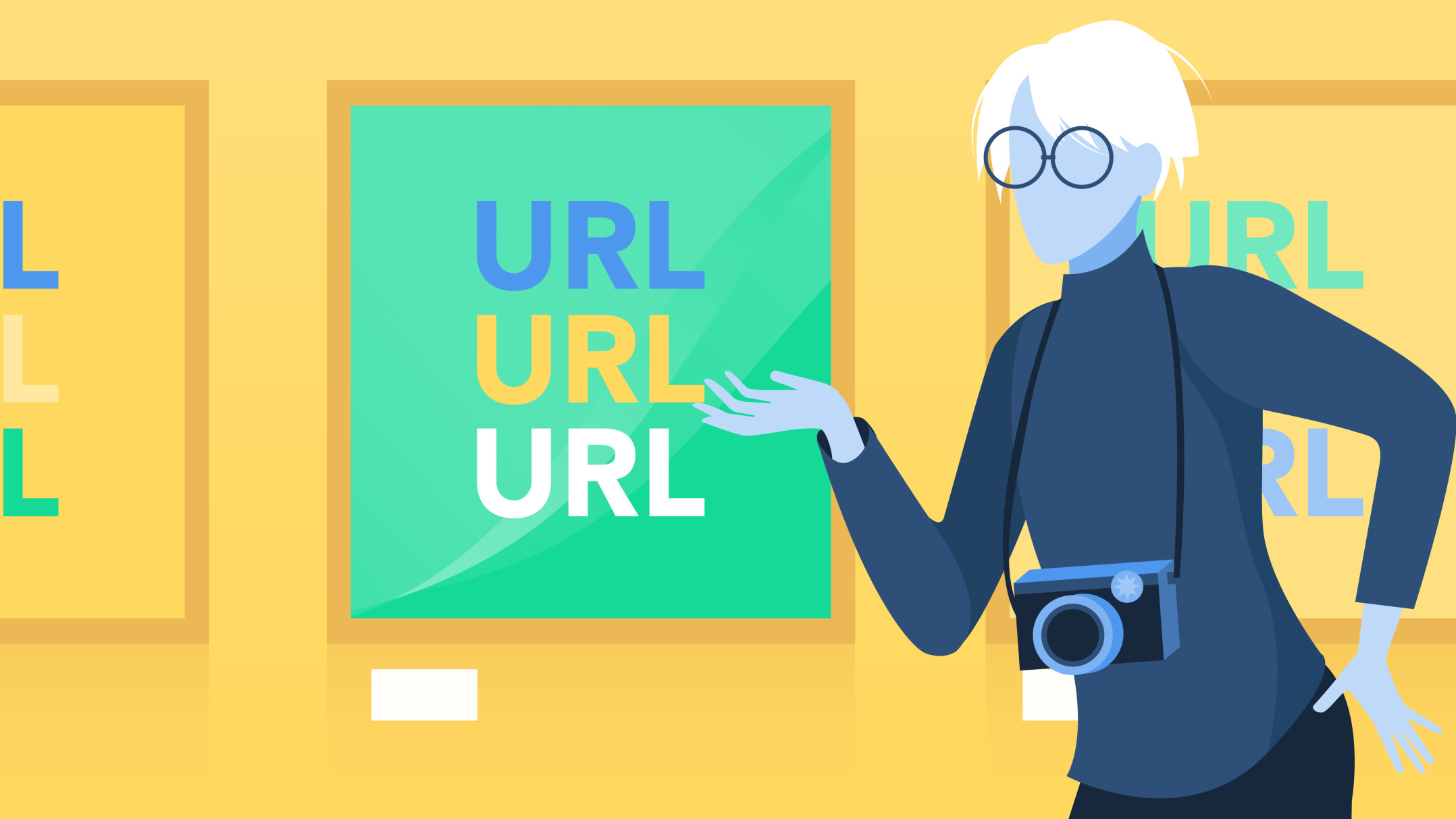 Andy Warhol point to a Gallery of URLs