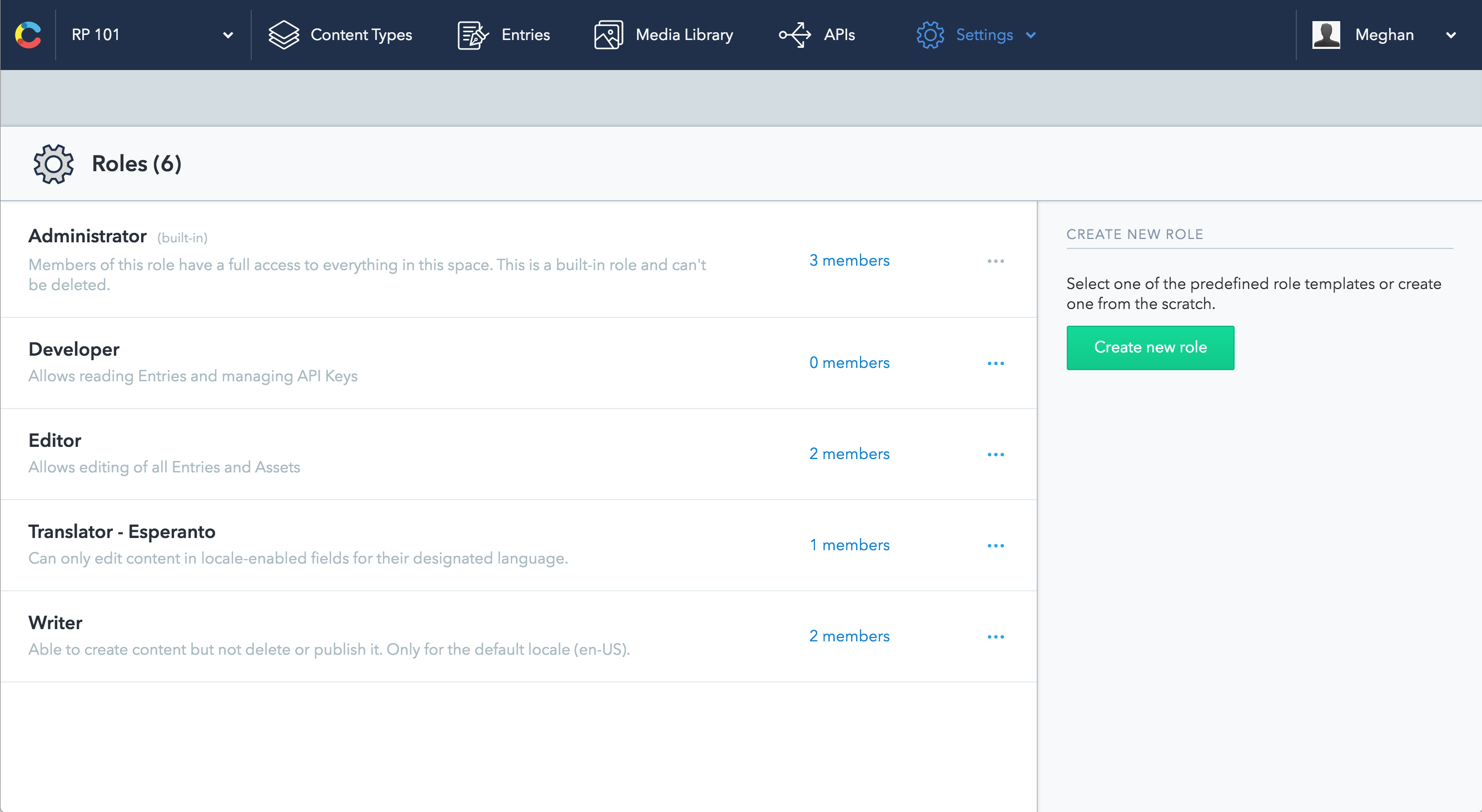 Custom roles and permissions – Contentful