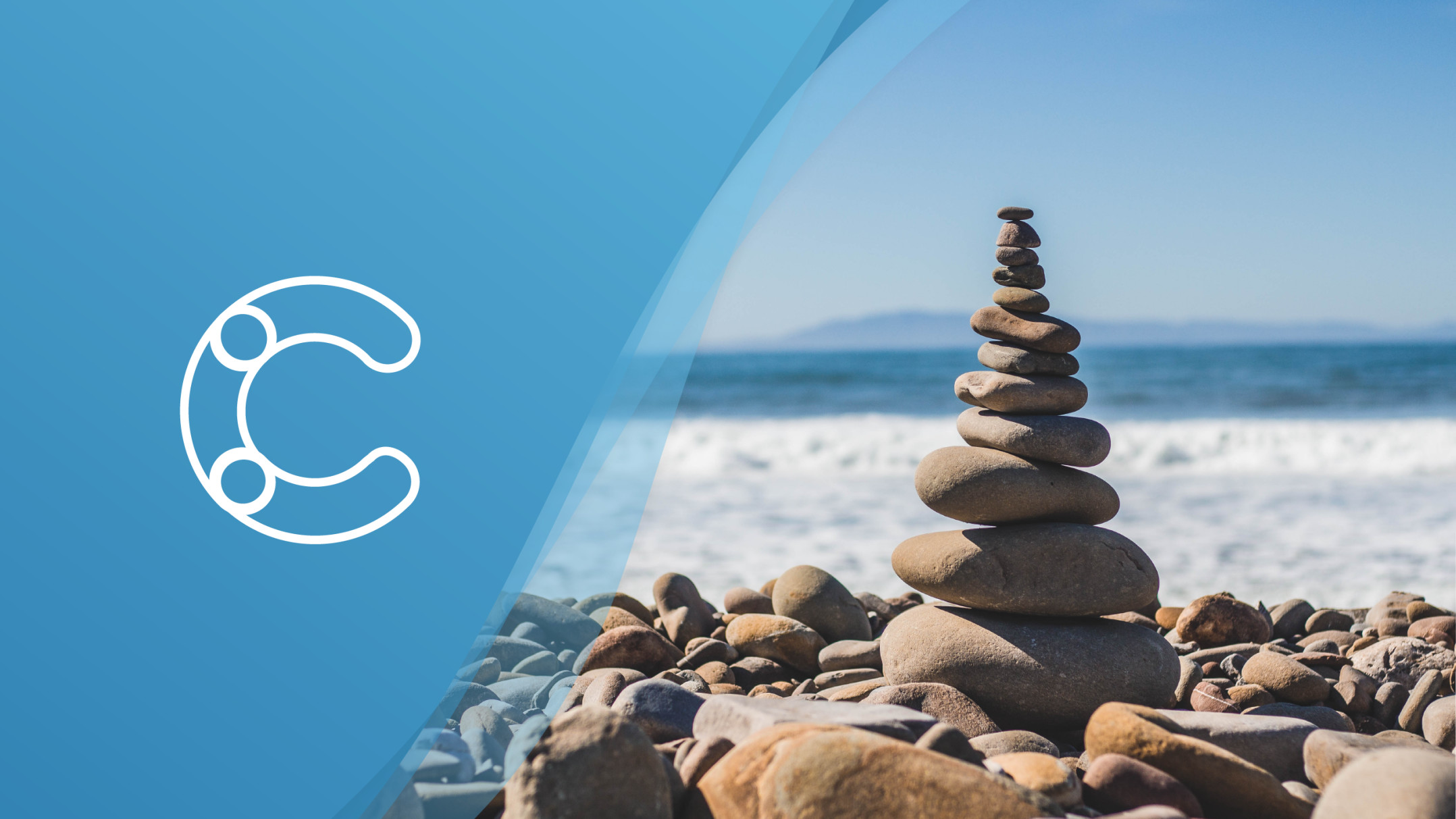 Blog header with an image of stones stacked on top of each other.