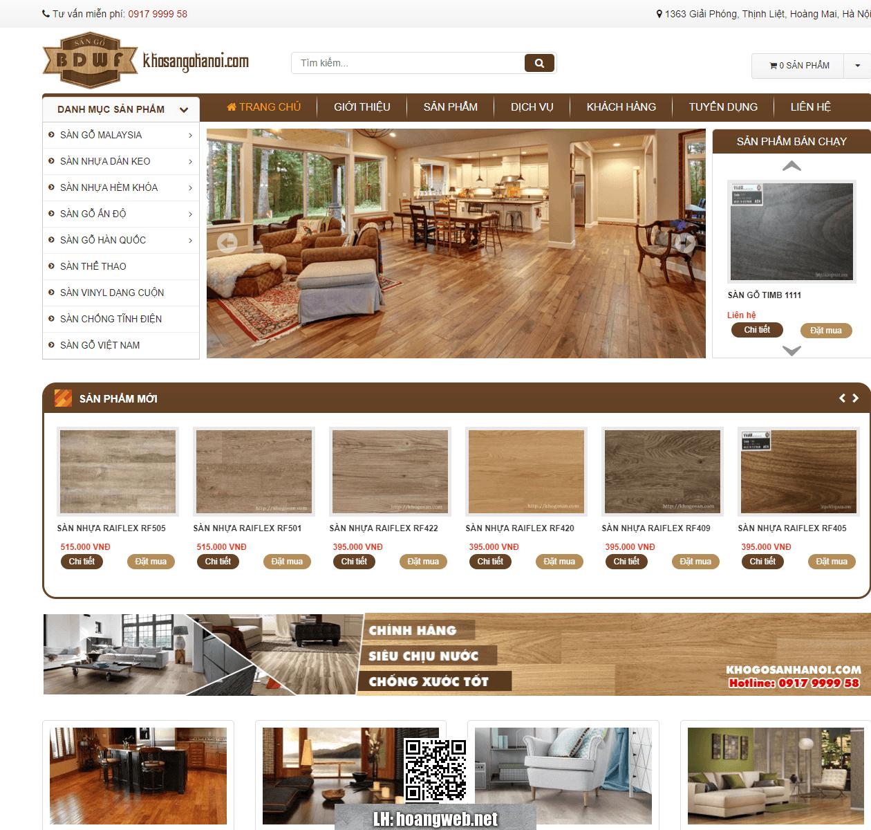 Mẫu web nội thất gỗ thumbnail