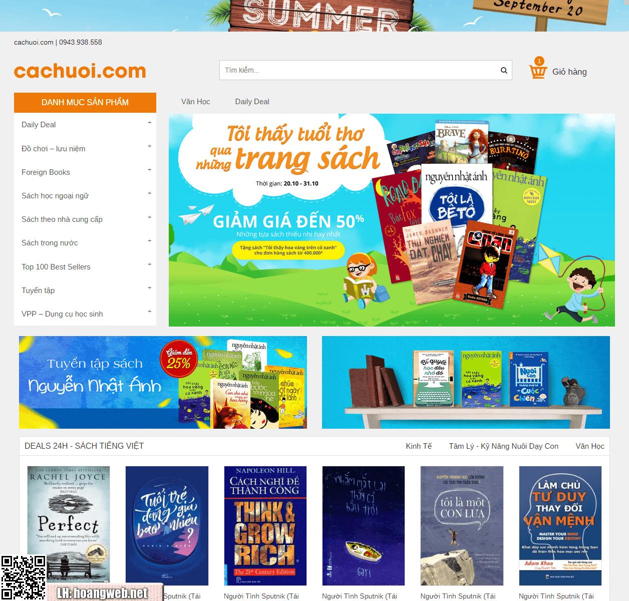 Web bán sách online thumbnail