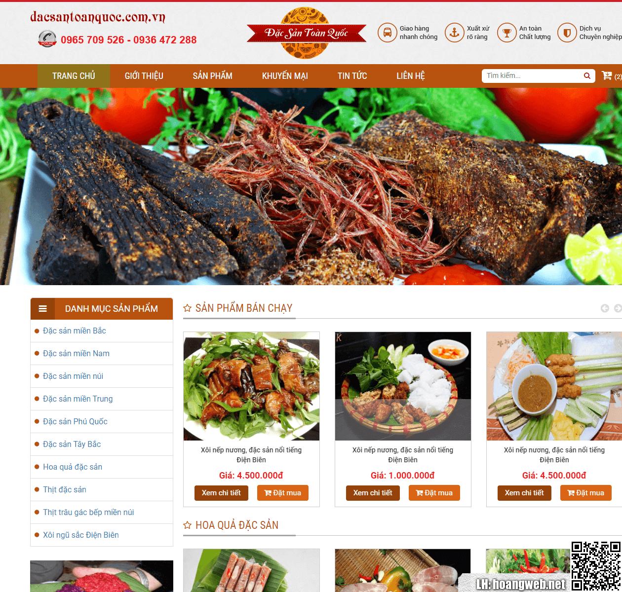 Mẫu web đặc sản ẩm thực 2 thumbnail