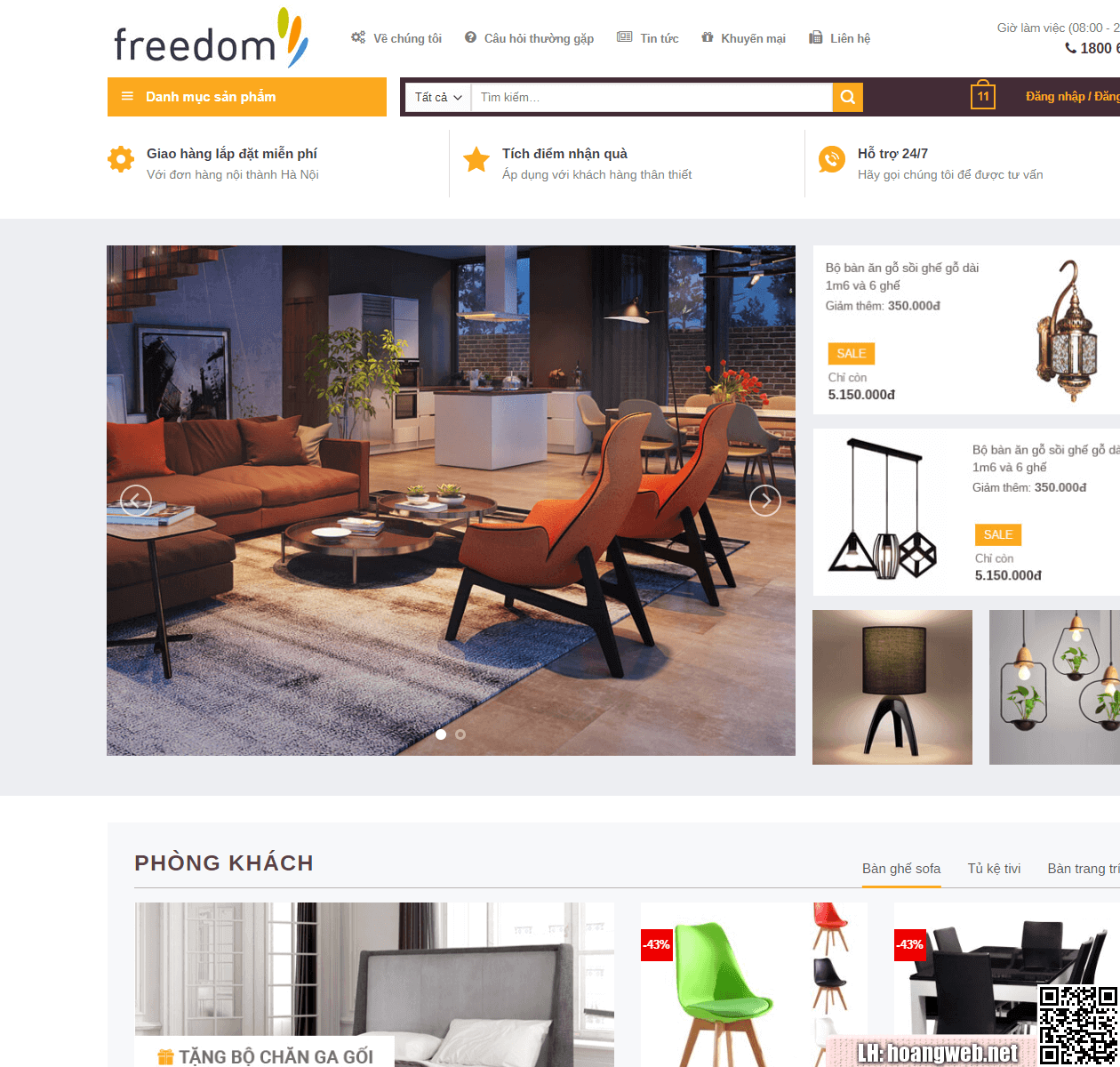 Mẫu web nội thất đẹp thumbnail