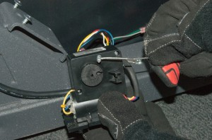 Remove the cable from the motor pulley.