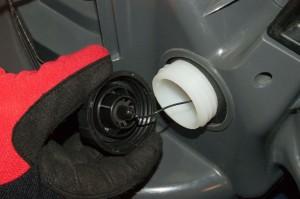 Drain the fuel tank.