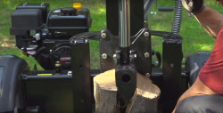 How to change the hydraulic fluid in a log splitter.