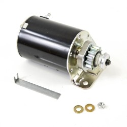 Replace the riding mower starter motor