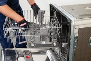 Reinstall the dishrack in the dishwasher.
