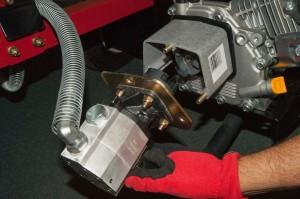 Reinstall the hydraulic pump.