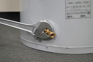 PHOTO: Install the new drain valve.