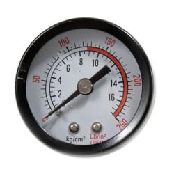 Replace the air compressor tank pressure gauge
