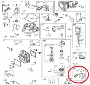 Engine wire harness illustration