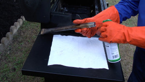 How to clean a gas grill video.